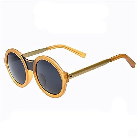 Z-P Fashion Metal Round Frame Dazzling Colors Anti-UV Vintage Geek Unisex Sunglasses 50MM