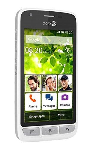 Doro PHONE 820 Smartphone, Marchio Tim, Bianco/Argento