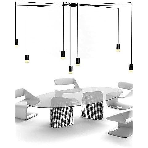 Norte de contratados y geométrico diseño de cable colgante LED Luz,Oficina Showroom,Salón , cálido blanco-