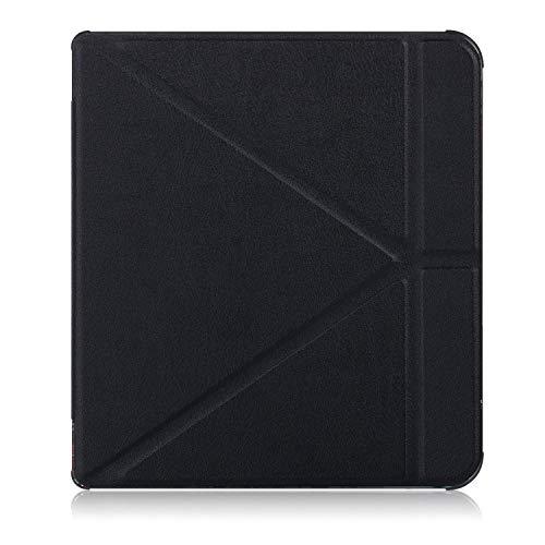 Xuanbeier Ultra Mince étui en Cuir PU Housse de Support Légère et Intelligente Coque Compatible avec Kobo Forma 2018,Noir