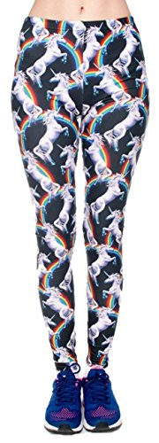 Unicorns and Rainbows 80s Spandex Stretchy Leggings