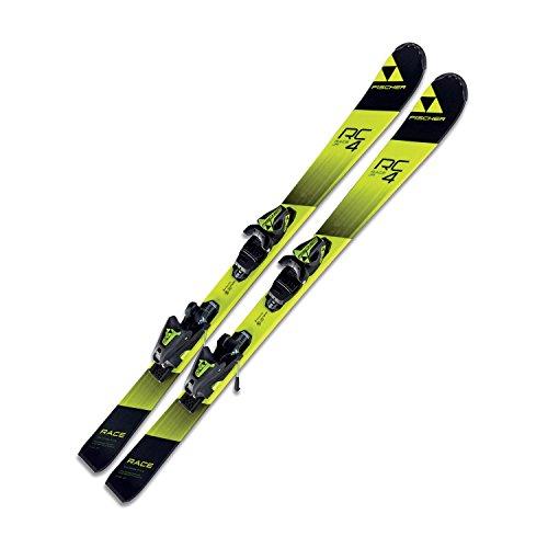 Ski Fischer RC4 Race JR SLR2 Kinder Jugendski 140cm Modell 2018 On Piste Rocker + Bindung FJ7 AC SLR