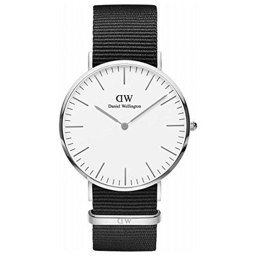 [Daniel Wellington] Daniel Wellington Reloj de hombre de la mujer Classic Cornwall blanco plata 40mm dw00100258[Regular importados]