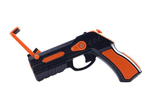 Contact LXARGUN - Pistola para juegos de realidad aumentada (conexión Bluetooth, compatible con smartphones de 4 - 6 pulgadas) negro y naranja
