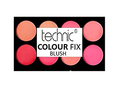 Technic Colour Fix Blush Palette, 3.5 g, Pack of 8 from Technic