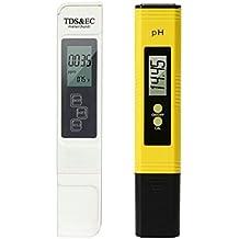 GuDoQi Probador de la Calidad del Agua Digital PH TDS Probador 4-en-1