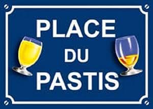 Place du Pastis - plaque de rue métal