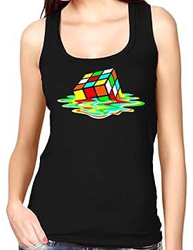 35mm - Camiseta Mujer Tirantes - Sheldon Cooper Cubo Rubik The Big Bang Theory - Women'S Tank Top