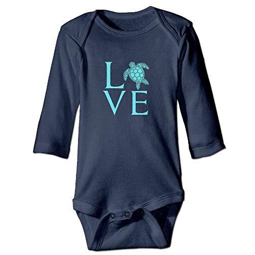 WBinHua Bodys et Combinaisons,Bertha Cool Love Sea Turtles Baby Unisex Long Sleeve Onesies Bodysuits