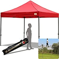 ABCCANOPY 3x3 Pop up Gazebo Instant Canopy Commercial Outdoor Canopy with Wheeled Carry Bag 10