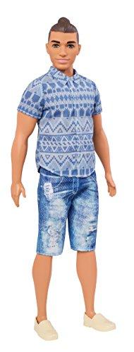 Barbie FNJ38 - Ken Fashionistas Puppe in verwaschenen Jeansshorts (Barbie Fashionista Puppe Ken)