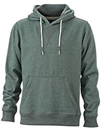 JAMES & NICHOLSON - sweat-shirt chiné à capuche - JN994 - homme