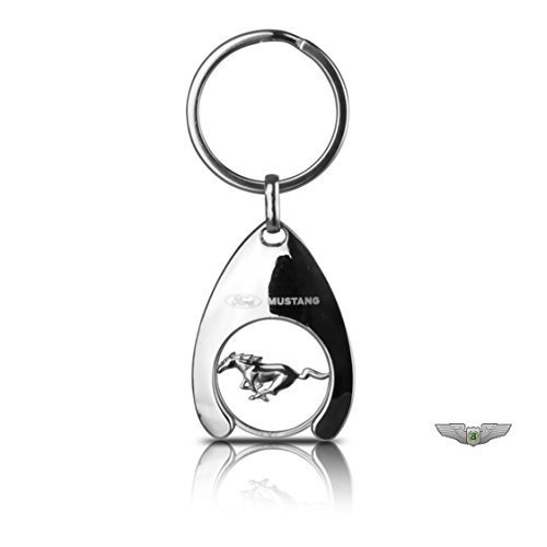 Price comparison product image Ford Lifestyle Collection New Genuine Ford Mustang Trolley Coin Keyring Key Ring 36200370