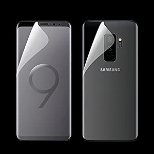 ikazen 360° Front + Back Full Screen Coverage Curved Scratch Guard PET Film for Samsung Galaxy S9 Plus (Front+Back)
