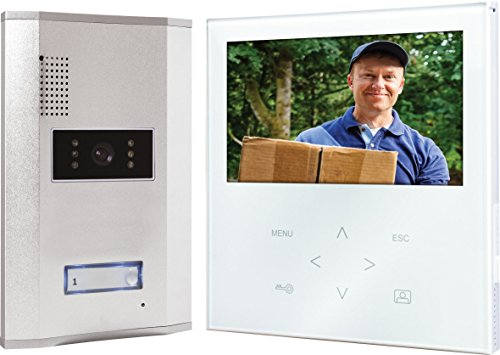 Preisvergleich Produktbild Elro VD71W Video - Türsprechanlage mit flachem Touchscreen-Panel, weiß