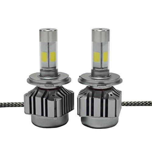 Preisvergleich Produktbild Yukong V8-H4 Car LED Light Bulbs Kit, Auto LED-Glühlampen-Installationssatz, Selbst-LED-Scheinwerfer-Birnen 80W 8000LM CREE LED H4 Scheinwerfer-Installationssatz-niedrige Strahl-Birnen 6000K weiße Birnen