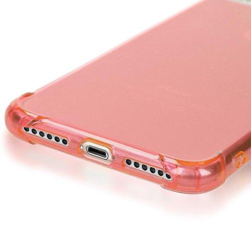 iPhone 8 Plus / 7 Plus Hülle Handyhülle von NICA, Ultra-Slim Silikon Case Crystal Schutz Dünn Durchsichtig, Etui Handy-Tasche Back-Cover Transparent Bumper für Apple iPhone 7Plus / 8Plus - Transparent Rosa Gold