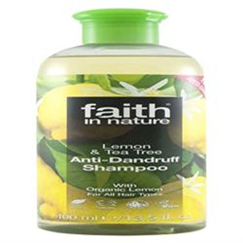 Faith In Nature Anti Dandruff Shampoo, Lemon and Tea Tree 400 ml