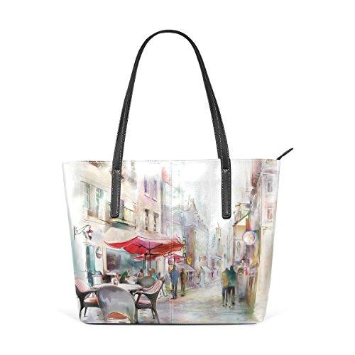 COOSUN Paris Street PU Leder Schultertasche Handtasche und Handtaschen Tasche für Frauen (Tasche Paris)