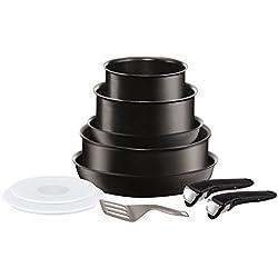 Tefal L6549702 Set de poêles et casseroles - Ingenio 5 Performance Noir 10 Pièces - Tous feux dont induction