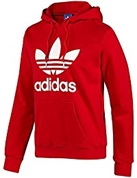 Adidas Trefoil X41185 Sudadera con capucha, rojo