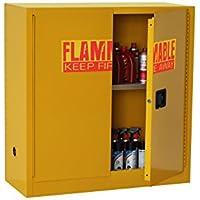 edsal sc300F-p armario de seguridad de acero para líquidos inflamables, 1estante, 2puerta manual estrecha, 30L capacidad, 1118mm Altura, 1092mm ancho, 457mm de profundidad, amarillo