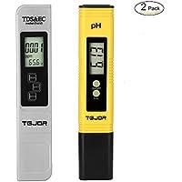 PH Tester/TDS&EC Tester TGJOR Tester Qualità Acqua Misuratore della qualità dell'acqua 4 in 1 Set/Digitale Misuratore Portabile/Auto-Calibrazione e Compensazione Automatica Temperatura Retroilluminato