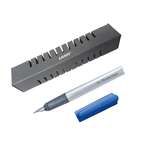 Lamy Füllfederhalter nexx Modell 87, Farbe blue (blau), Feder A, inkl. Laser-Gravur