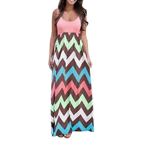 Rose Western Shirt (Yanhoo-Dress Damen Lange Boho Kleid Lady Beach Sommer Sundrss Maxikleid Strand häkeln Vintage Floral Bodycon Sleeveless beiläufiges Abend Partei Abschlussball Schwingen (XL, Rose Rot))