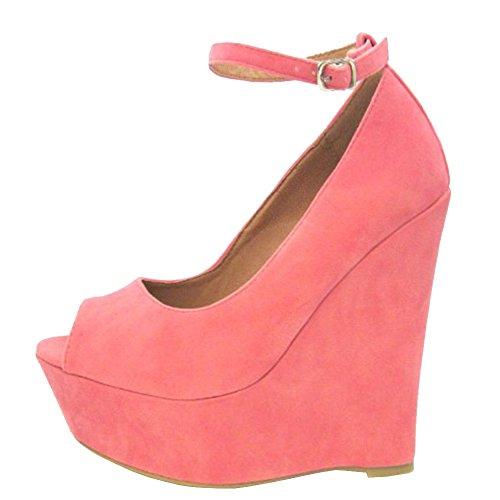 MERUMOTE, Scarpe col tacco donna Pink