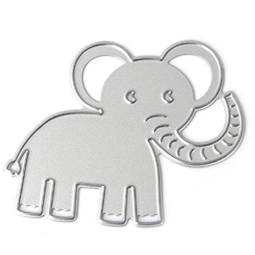 men - Baby Elefant, Scrapbooking Dies Ausgeschnitten 2,48 x 1,97 Zoll, Schablonen aus Metall, für Basteln, Album, Papier, Karten ()