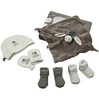 Panda EEY GIFT BOX 1 70727 - Disney Eeyore Geschenkset für Neugeborene bestehend aus Kuscheltuch, Handschuhe, 2 Paar Söckchen, Mütze