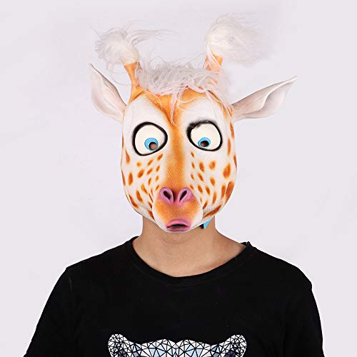 CONRAL Neuheit niedlichen Hirsch Kostüm Maske, lustige Tierkopf Maske Cosplay Requisiten für Halloween und Cosplay Party, Kinder (Lustige Doof Kostüm)