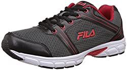 Fila Mens Neuro Charcoal, Black and Maroon Running Shoes - 11 UK/India (45 EU)