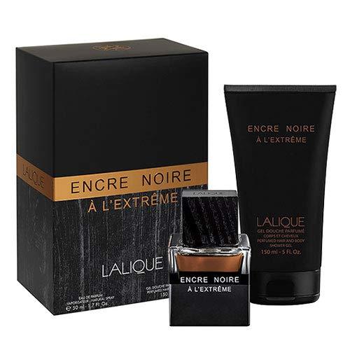 Lalique Lalique encre noire a l'extreme set 50 ml mit shower gel 150 ml