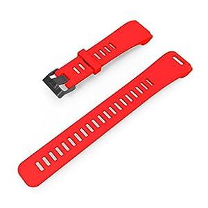 Hunpta Ersatz Soft Silikon Armband Sport Strap WristBand Zubehör für Garmin Vivosmart HR (Rot 1)