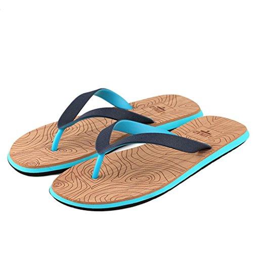 KEERADS Herren Zehentrenner,[Flip Flops],[PVC],[Beach] Blau