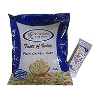 Pratipa Cashews Plain W320 500gms with Free Cashew Chikki 25gms