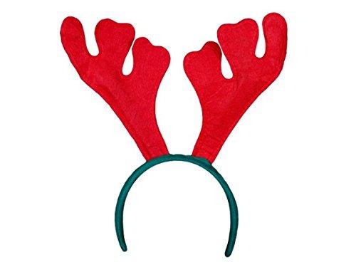 Alsino Cerchietto Natalizio Corno di Renna Rosso (wm-19) Verde Accessorio per Natale Taglia Unica per Bambini Adulti Ragazzi