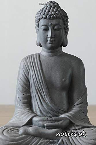 notebook: 6x9 cute lined journal | buddha statue spiritual meditation buddhism