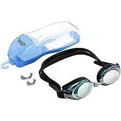 Gafas de natación Mitavo para jóvenes y adultos, gafas de buceo con antivaho, protección UV 100% y funda para guardarlas.