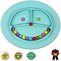 Babylovit BPA -freies Esslernteller - Babyteller Babygeschirr Teller für Baby und Kleinkinder Rutsch und Saugfest aus Silikon