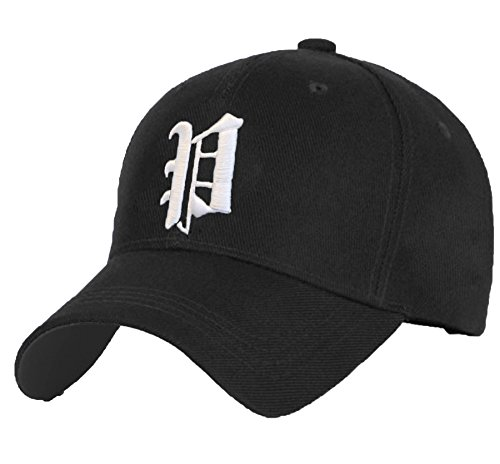 Cotton Baseball Mütze Cap Caps Gothic 3D A-Z BAD SWAG schwarz Snapback with Adjustable Strap Snap Back (P)