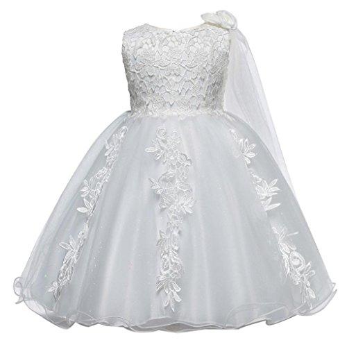 Huhu833 Baby Kleid Spitze Baby Mädchen Prinzessin Brautjungfer Festzug Tutu Tüll Kleid Party...