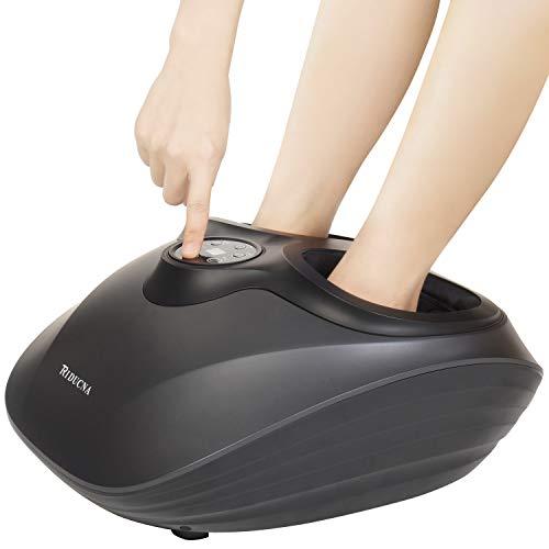 elektrisches fussmassagegeraet Shiatsu Fußmassagegerät Elektrisch mit Klopf & Heizfunktion Fussmassage mit Kneten Rollen Luftkompression - 3 Optionale Modi, Einstellbare Intensität und Auto Timer für Zuhause Büro Fußentspannung