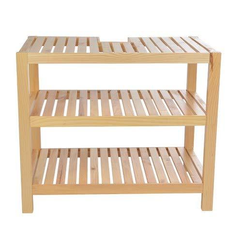 Waschtischunterschrank, Holz, Braun – 40x65x55cm - 3