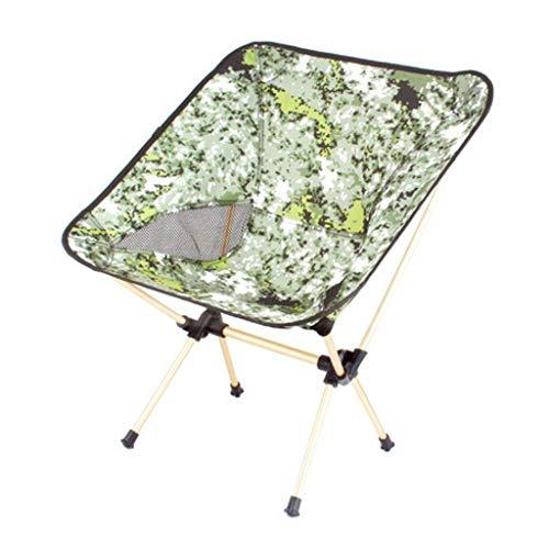 WRZHRXXH Camping Stuhl Falten Im Freien Tragbar Mond Stuhl Fischen Stuhl Strand Rückenlehne Skizze Stuhl Barbecue Hocker Direktor Stuhl-Grün