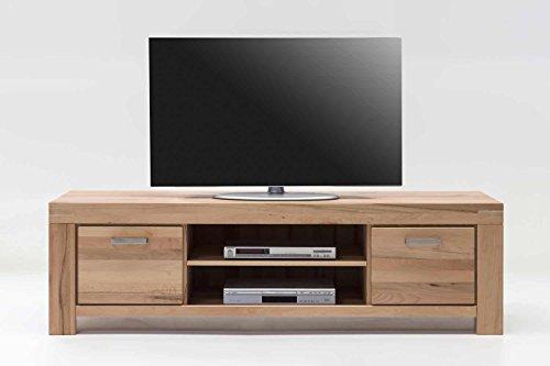 TV Kommode Lowboard Kira Kernbuche massiv geölt B. 175cm 6873