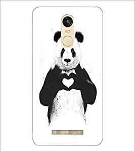 PrintDhaba Bear with Heart D-1469 Back Case Cover for XIAOMI REDMI NOTE 3 PRO (Multi-Coloured)