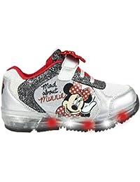 CERDÁ LIFE'S LITTLE MOMENTS Cerdá-Zapatilla con Luces Minnie Mouse de Color Plateado, Niñas